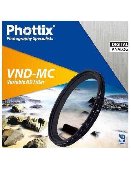 Filtro ND-Variable Phottix 52mm densidad neutra