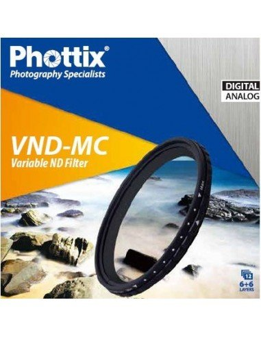 Filtro ND-Variable Phottix 49mm densidad neutra