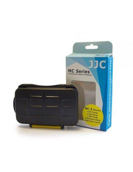 Estuche tarjetas de memoria JJC para 4 CompactFlash, 4 SecureDigital, 4 XDPictureCard y 4 MemoryStick Pro Duo