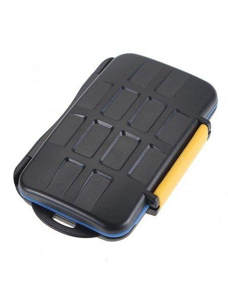Estuche para 4 tarjetas CompactFlash, 4 SecureDigital, 4 XDPictureCard y 4 MemoryStick Pro Duo modelo MC-3