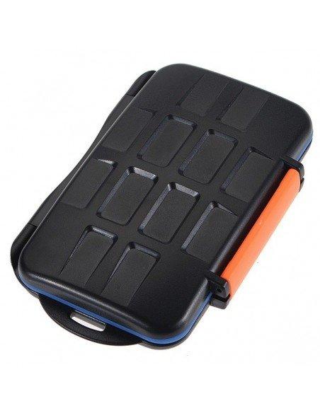 Estuche para 4 tarjetas CompactFlash, 8 Micro SD y 8 XDPictureCard modelo MC-4