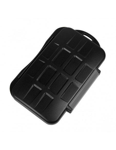 Estuche para 4 tarjetas CompactFlash, 2 SecureDigital, 2 XDPictureCard, 2 MemoryStick Pro Duo y 2 Micro SD modelo MC-5