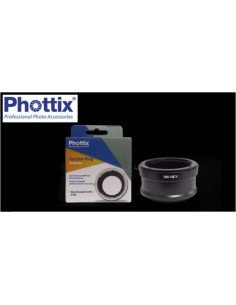 Anillo adaptador Phottix de flash Bowens a Phottix Luna y difusor Globo
