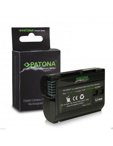 Batería Patona EN-EL15 Premium para Nikon D7000 D7100 D750 D800/E D600 D610 V1