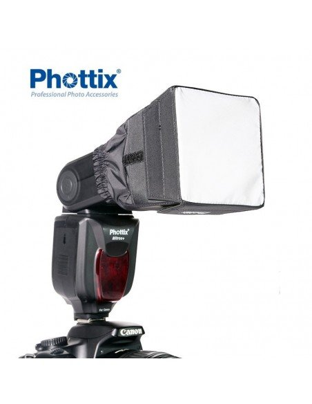 Difusor mini ventana Phottix para flash compacto