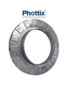 Anillo adaptador Softbox Phottix Hexa-Para a flashes estudio Bowens