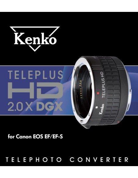 Duplicador Kenko Teleplus HD DGX 2.0x para Canon EF y EF-S