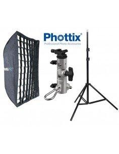 Kit Strobist Phottix Pro 60x90cm Easy-Up HD con Grid, rótula Varos Pro S y pie