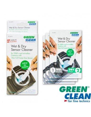 Kit limpieza sensor Green Clean wet + dry 1x4 Non Full Frame