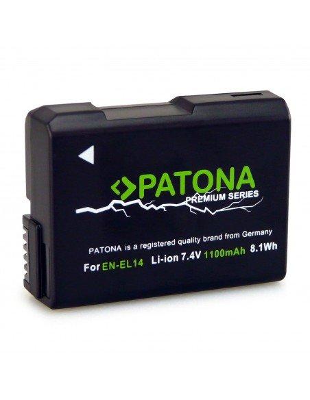 Batería Patona EN-EL14 Premium Infochip para Nikon D5100 D5200 D5300 D5500
