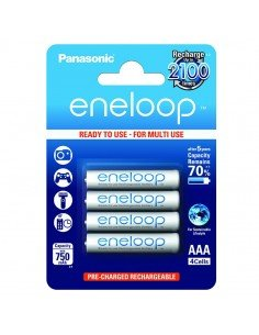 Pack 4 baterías recargables Panasonic Eneloop AAA 800mAh