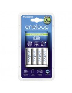 Cargador Panasonic Eneloop BQ-CC17 + 4 baterias Eneloop AA 2000mAh