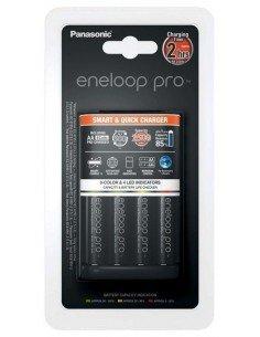 Cargador inteligente BQ-CC55E + 4 baterías AA Eneloop Pro 2500mAh