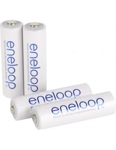 Cargador inteligente BQ-CC55E + 4 baterías AA Eneloop 1900mAh