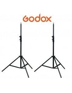 Kit de 2 Pies de estudio Godox de aluminio 200cm con muelles