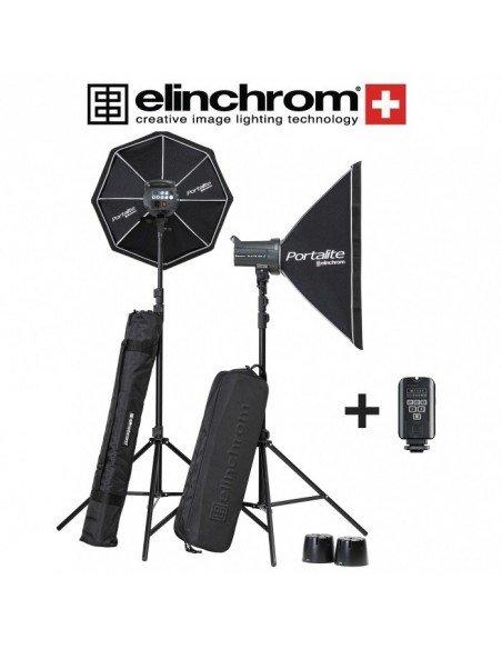 Kit 2 Elinchrom D-LITE RX 4/4 To Go con ventanas y transmisor EL-Skyport Plus