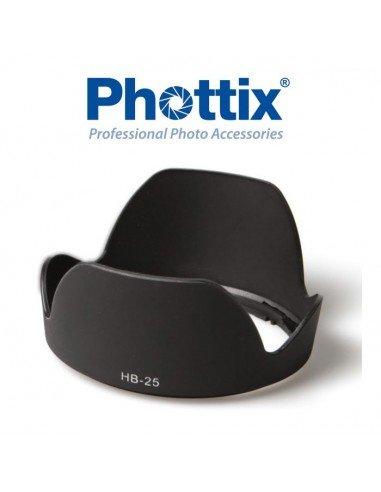 Parasol Phottix HB-25 para Nikon 24-85mm f/2.8-4D IF, 24-120mm f/3.5-5.6G IF-ED