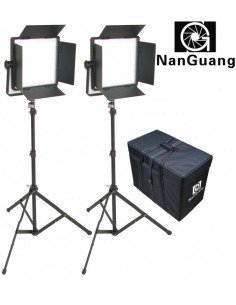 Kit 2 Paneles led Nanguang CN-1200CSA Bi-color con aletas