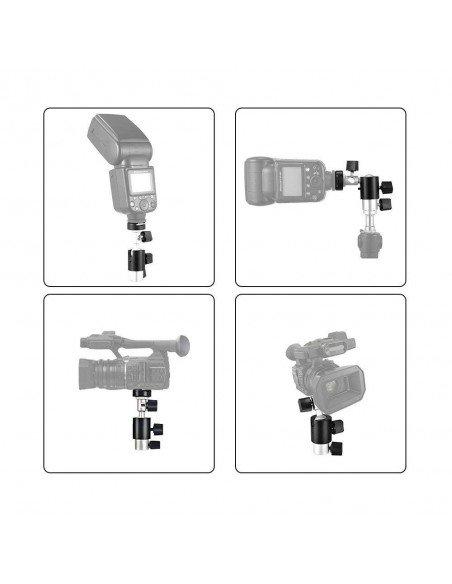 Soporte tipo D para flash compacto y paraguas