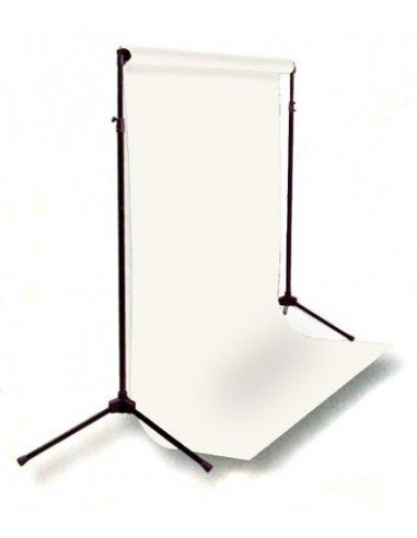 Kit Soporte fondos 2,6x3mts extensible+ Fondo cartulina Super Blanco 2,75x11m