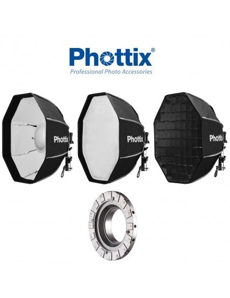 Beauty Dish/Softbox Phottix Spartan 50cm con Speedring para Bowens
