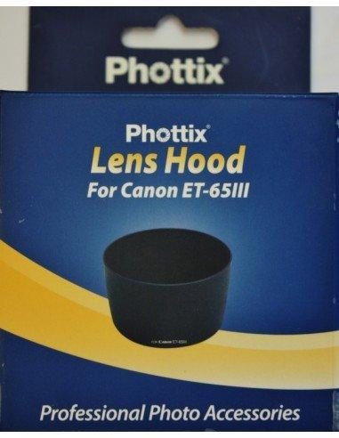 Parasol Phottix ET-65III para Canon EF 100-300mm f/4.5-5.6 USM, EF 100mm f/2 USM