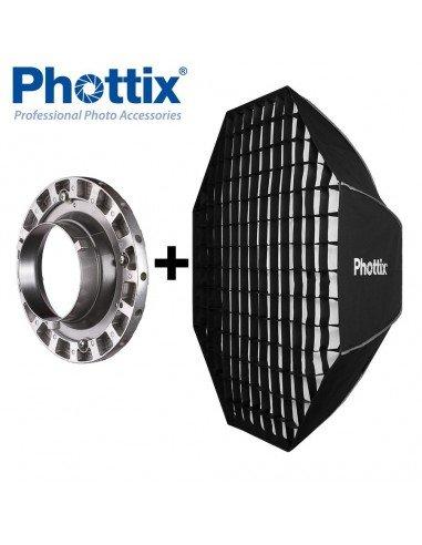 Ventana de luz Phottix Solas Octagon 122cm con Grid para Bowens