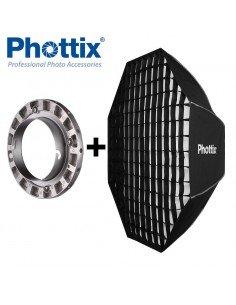 Ventana de luz Phottix Solas Octagon 122cm con Grid para Elinchrom