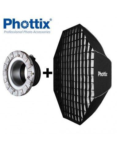 Ventana de luz Phottix Solas Octagon 122cm con Grid para Profoto