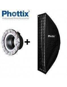 Ventana de luz Phottix Solas Strip 35x140cm con Grid para Profoto