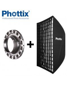 Ventana de luz Phottix Solas rectangular 91x122cm con Grid para Bowens