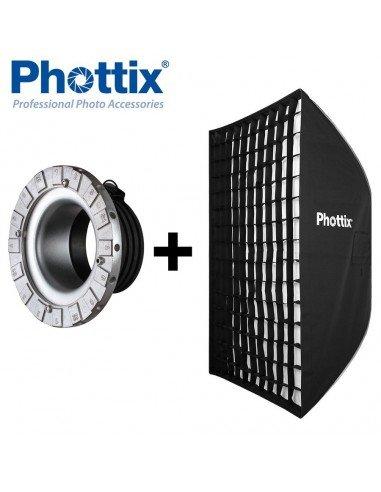 Ventana de luz Phottix Solas rectangular 91x122cm con Grid para Profoto