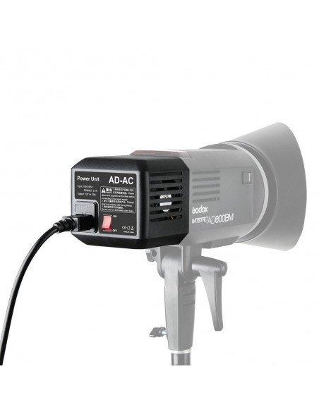 Flash Godox AD600B TTL HSS con batería, alimentador AC y transmisor X1