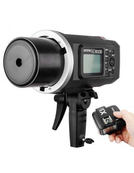 Flash Godox AD600B TTL HSS con batería, antorcha, transmisor X1 y maleta
