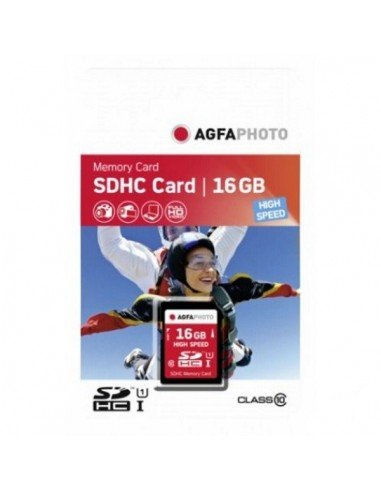 Tarjeta de memoria SDHC Agfaphoto 16GB Clase 10 High Speed UHS-1