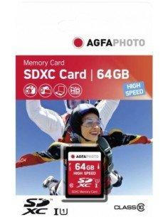 Tarjeta de memoria SDXC Agfaphoto 64GB Clase 10 High Speed UHS-1