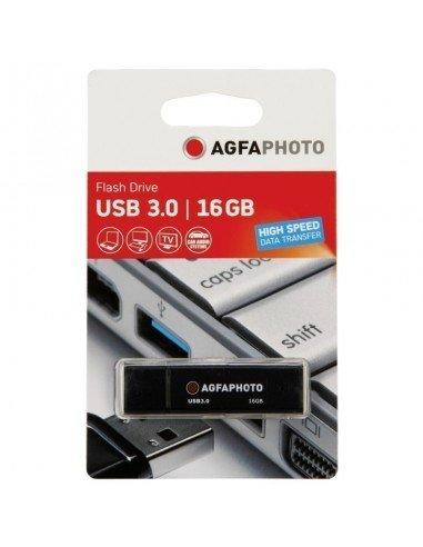 Memoria Pendrive AgfaPhoto USB 3.0 black 16GB