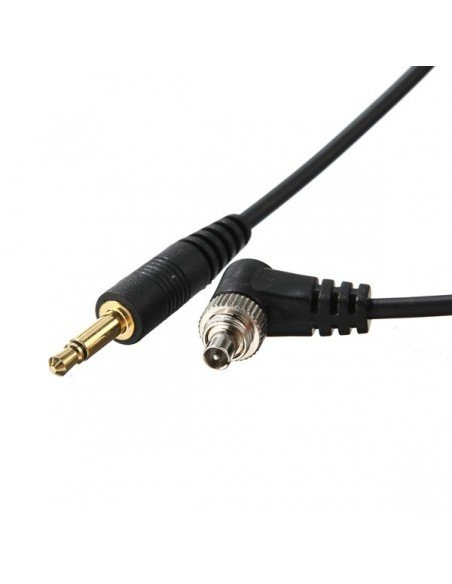 Cable de conexion 3.5 a PC sincro 5 metros para flash