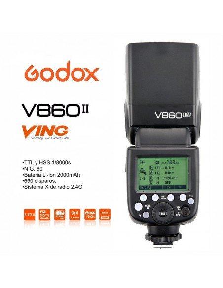 Kit 2 Flashes Godox Ving V860II TTL HSS y transmisor X1T para Sony
