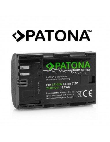 Batería Patona Premium LP-E6N Infochip para Canon Eos 5Ds R, 6D, 60D, 70D, 80D