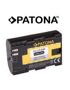 Batería Patona LP-E6N Infochip para Canon EOS 5Ds 5D Mark II 5D Mark III