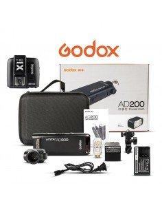 Flash Godox AD200 200Ws 2.4G TTL HSS con Transmisor X1 y batería de litio