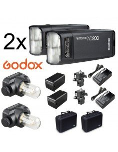 Kit 2 Flashes Godox AD200 200Ws 2.4G TTL HSS