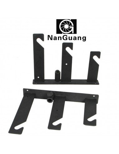 Soporte fondos Nanguang triple gancho para pared y pies