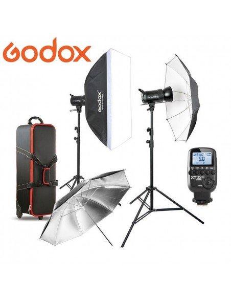 Kit 2 Flashes Godox SK300II con receptor 2.4G integrado y transmisor XT-32