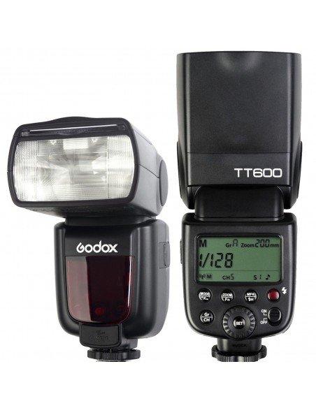 Flash manual Godox TT600 HSS Gn60 receptor interno 2.4Ghz. Gratis difusor y geles