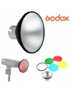 Kit reflector y geles Godox para flash AD200
