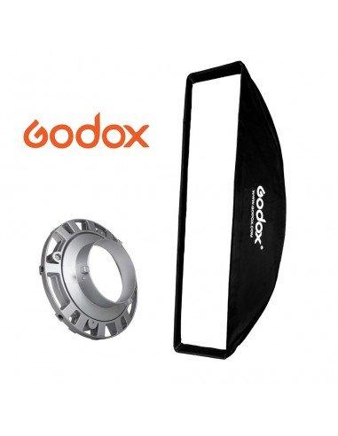 Ventana Strip Godox Premium 22x90cm con adaptador Bowens