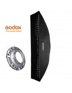 Ventana Strip Godox Premium 22x90cm con GRID y adaptador Bowens