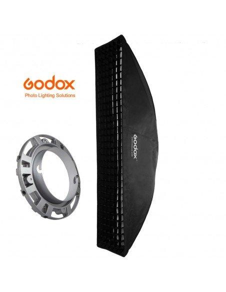 Ventana Strip Godox Premium 22x90cm con GRID y adaptador Elinchrom